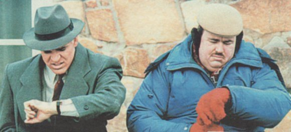 John Candy and Steve Martin check their watches, how much longer…