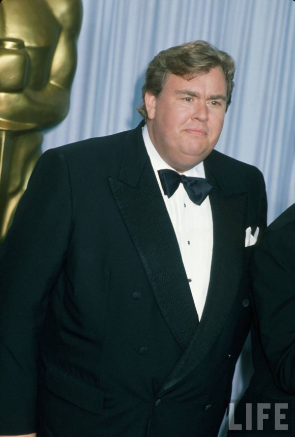 John Candy looking smart for the 1990 Oscar Awards.