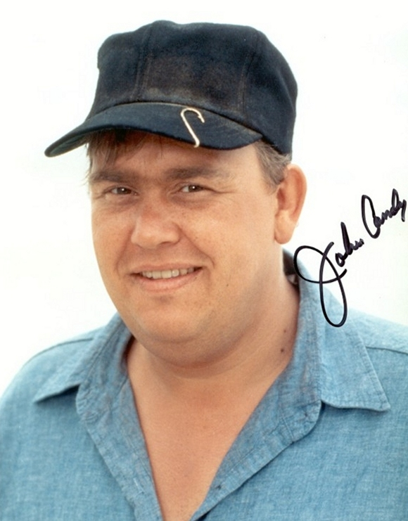 A nice autographed John Candy photograph.